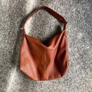Liz Claiborne Brown Leather Bag w/ Gold Detail